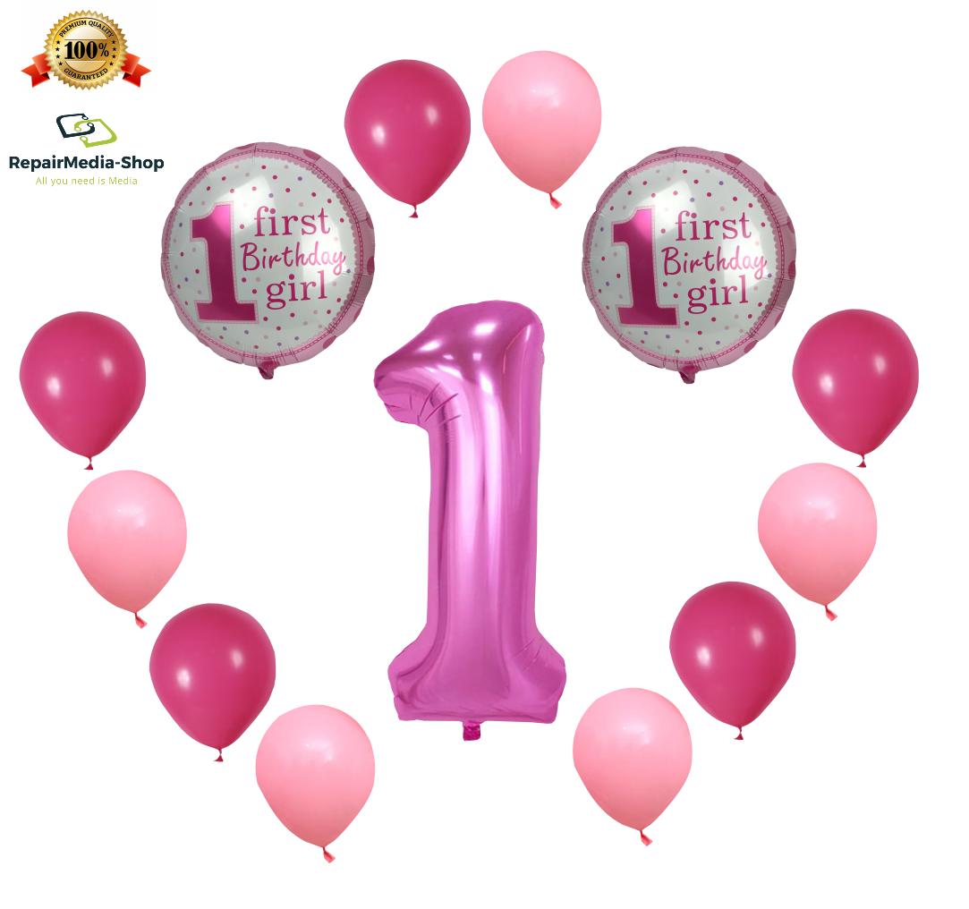 XXL 100cm Riesen Helium Zahl 2 Folienballon Pink Mädchen Geburtstag Deko Rosa 1m